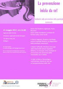 La prevenzione inizia da te! Bologna, Agenzia delle Entrate, 31 maggio 2017