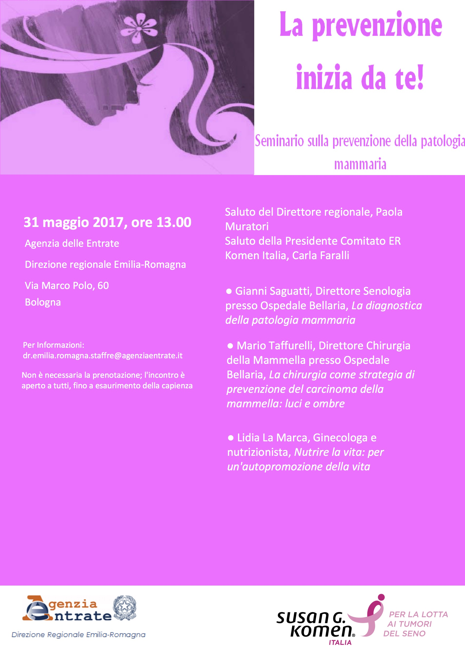 Susan G. Komen Italia: un appuntamento con la prevenzione