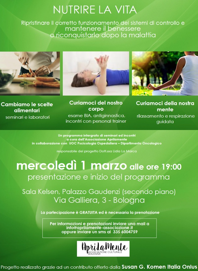 Nutrire la vita - Coordinatrice Dott.ssa Lidia La Marca