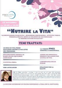 """"""" NUTRIRE LA VITA """" alimentazione , attivita' fisica e benessere psicologico"""